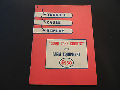 Vintage 1947 Esso Farm Equipment Care Book/ Esso Products, 102 Pages