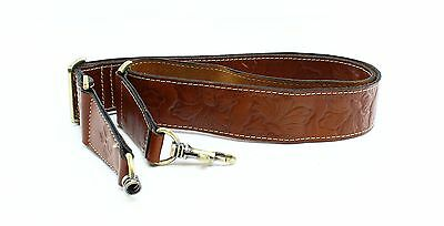 Patricia Nash NEW Tan Signature Tooled Leather Shoulder Strap Adjustable $69- #1