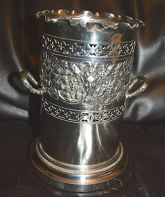 Walker & Hall Silver Plated Antique Champagne Cooler Or Wine Cooler Coaster