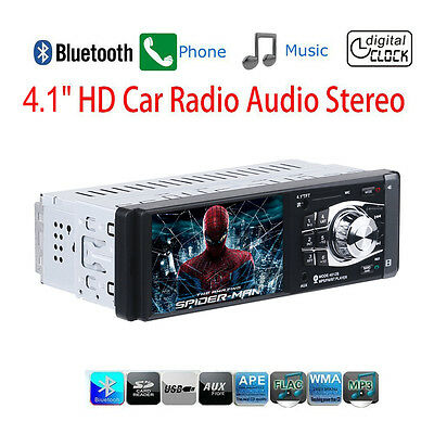 Car MP5 Player Stereo Radio Bluetooth 4.1 inch 1 Din HD Screen Aux Input SD/USB
