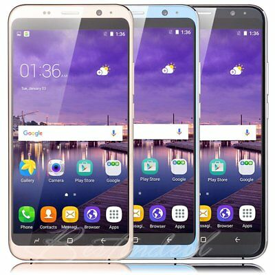2017 New Android 5.1 Unlocked 5.5 Inch Mobile Phone Quad Core 3G 8GB Smartphone