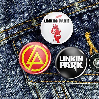 Linkin Park Metal Rock Punk Button Set 3 x 25mm Badges or Individual