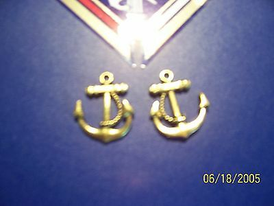 KNIGHTS OF COLUMBUS - Silver Tone Anchor Second degree Symbol 7/8""