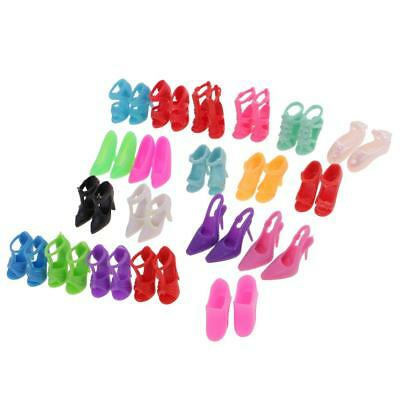 Handmade High Quality Plastic 20Pairs Doll Shoes for Barbie Doll Accessories