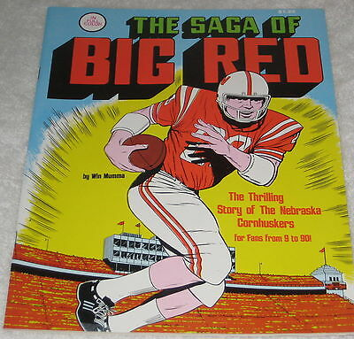Vtg Nebraska Cornhuskers Football Win Mumma Comic Signed  NO COA Saga of Big Red