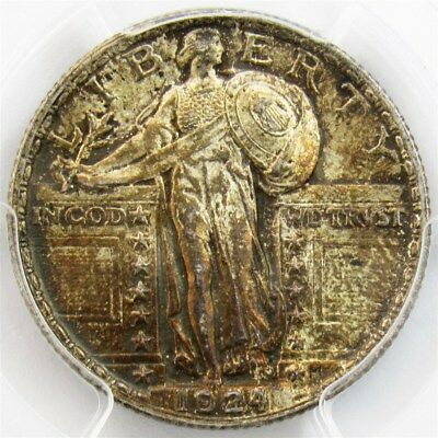 1924 Standing Liberty Quarter - PCGS MS63 - Certified 25c Silver Colorful Toning
