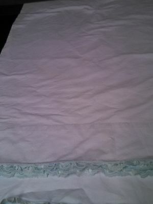 Pillowcases Vintage Blue With Ruffley Blue Hems A Pair Of Pretties