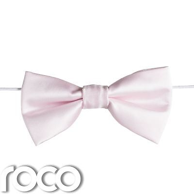 Boys Pink Elasticated Dickie Bow Tie Page Boy Wedding Prom Dickie Bows