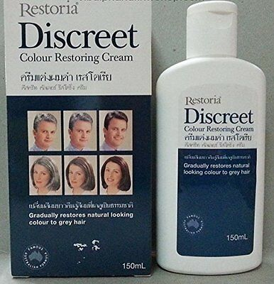 Restoria Discreet Grey Hair Restoring Cream Restores Natural Colour Choose Size
