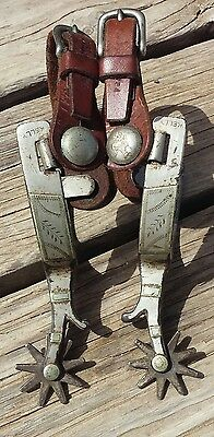 RARE 1940's Silver Mntd PM Kelly Spurs
