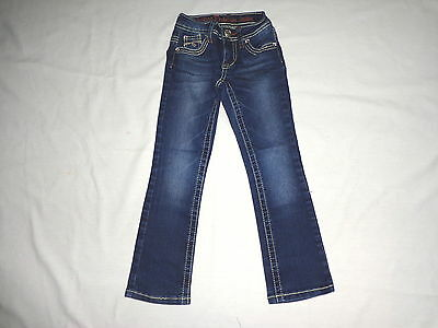 Size 6 S - Girl- Blue Denim Jeans By Justice Premium - Skinny Boot - Stretch
