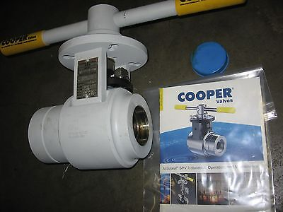 "Cooper Accuseal 3200# 2"" Socket Weld Steam Power Ball Valve 2.00-SPV1.06-3200"