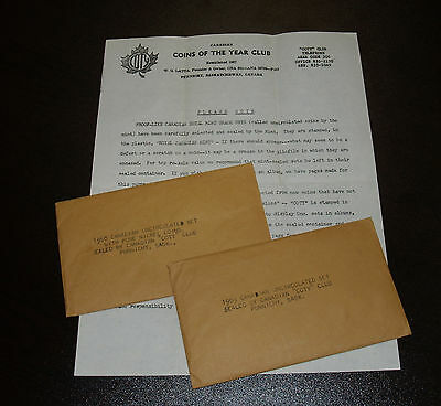 """Two Canadian """"COTY"""" Coin of the Year Uncirculated Sets - 1968 - 1969"""