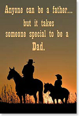 "LEANIN TREE ""Anyone a Father, Someone Special to be a Dad""  #25709 Magnet  ~"