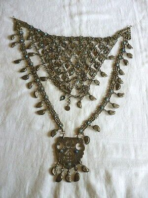 Ancien Collier Plastron Ethnique Berbere Theatre