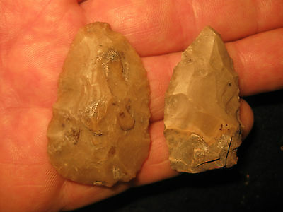 2 Authentic Central Texas Arrowhead Knife Artifacts Prehistoric Ancient Indian