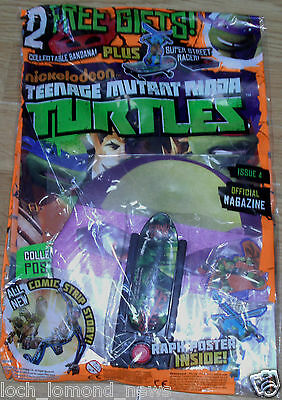 Teenage Mutant Ninja Turtles magazine #4  + Street Racer Toy & Purple Bandana