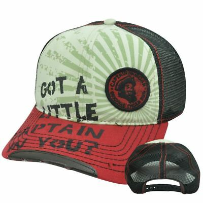Captain Morgan Rum Alcohol Beverage Mesh Snapback Curved Bill Constructed Hat
