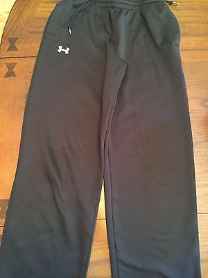 Boys Under Armour All Season Gear Sweatpants Athletic Pants Size YLG 14 Black
