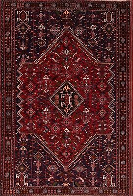 """Excellent Geometric! 6x8 Abadeh Shiraz Persian Oriental Area Rug 8' 5"""" x 5' 7"""""""