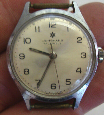 Vintage gents wristwatch made by JUNGANS with 17 jewels