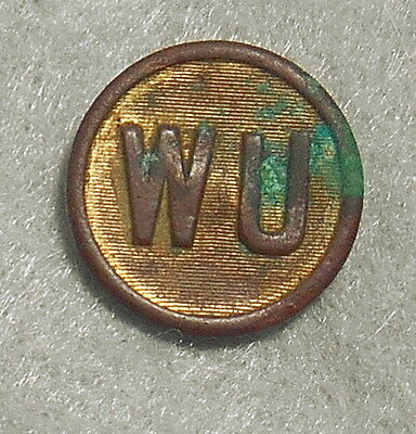 Antique Western Union 21.5 mm Uniform button dug in Ashland Virginia