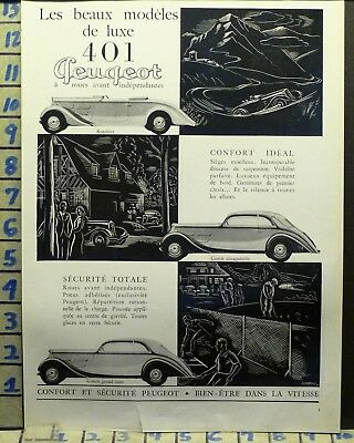 1935 Peugeot Roadster Race Speed Car Auto Sport Golf Tennis  Ad  Ab54