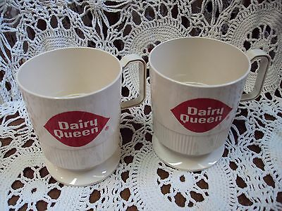 Vtg Lot/2 Advertising DAIRY QUEEN ~ I Got Mugged At The Dairy Queen Mugs / Cups