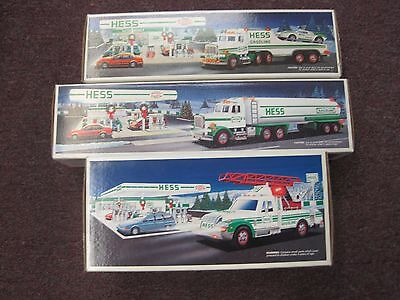 Hess Trucks ~ New In Box With Inserts ~ Lot Of 3 ~ 1990, 91 & 94