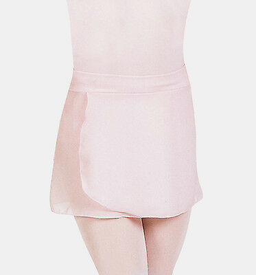 NWT Mirella Ballet Dance Pink Georgette Mock Wrap Skirt Girls Small Child MS12CH