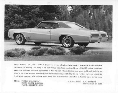 1969 Buick Wildcat ORIGINAL Factory Photo oub5729