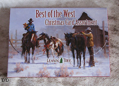 LEANIN TREE Best of the West Christmas Cards 2 each of 10 designs w/ envelopes