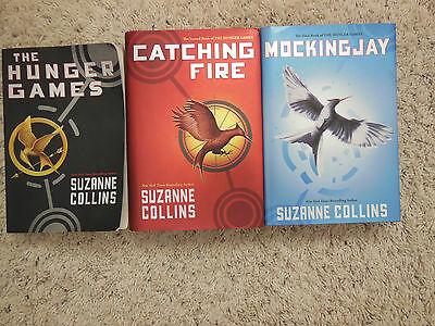 Lot Of 3 Hardback Books By Suzanne Collins-The Hunger Games Triolgy
