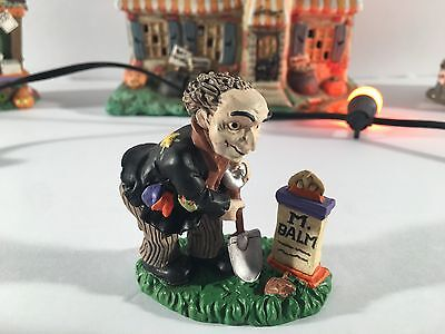 "New Rare Midwest Of Cannon Falls Creepy Hollow ""grave Digger"" Village Piece"