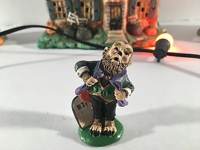 "New Rare Midwest Of Cannon Falls Creepy Hollow ""singing Werewolf"" Village Piece"