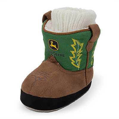 Infant John Deere Cowboy Boot Slipper Socks (Green)