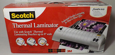 3M Scotch Thermal Laminator TL901 with 2 laminating pouches NEW