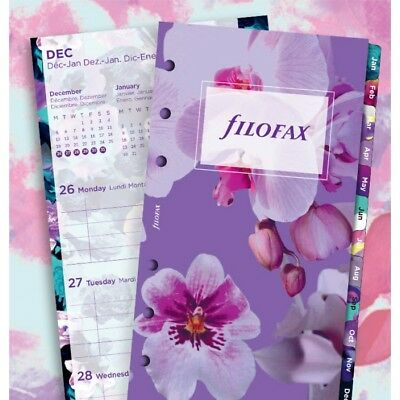 Filofax Week to View Illustrated Floral 5 Lang 2018 Personal/Compact Size Refill