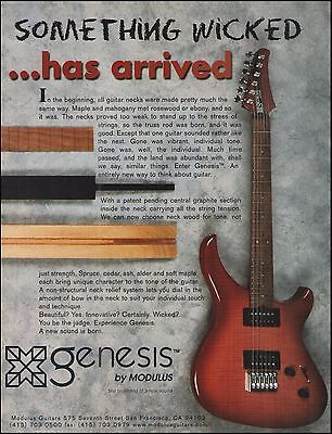 The 1997 Modulus Genesis Electric Guitar Series ad 8 x 11 advertisement print 2b