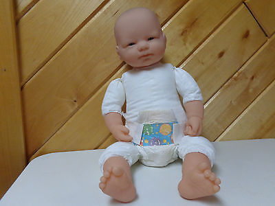 Berenguer  20 Inch Cloth Body Realistic Looking Baby Doll Vinyl Limbs   Clean
