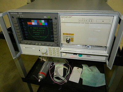 HP Agilent 70004A Display 4-Slot Mainframe Chassis, HP 70311A Clock Source