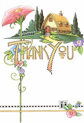 Mary Engelbreit-COTTAGE THANK YOU-Blank Greeting Card w/Envelope-NEW!