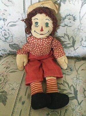 RARE EARLY RAGGEDY ANN Family ANDY All Original  DARLING!