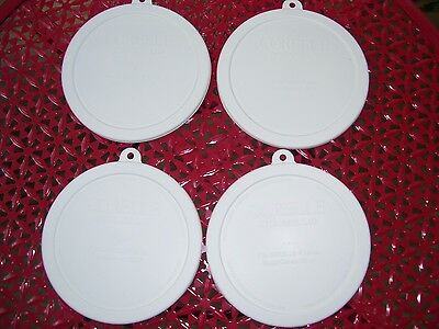 4 NEW Corning Corelle 18 oz Cereal Bowl Covers Lids 418-PC FREE SHIPPING