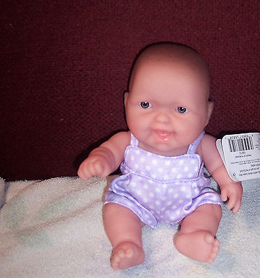 "New Berenguer Lots To Love Babies JC Toys 8"" Vinyl Baby Doll With SMILE HTF"