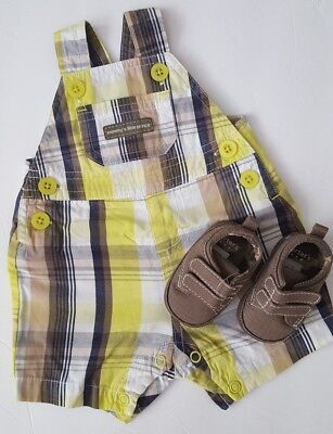Carter's Baby Boy Overalls & Shoes Size Newborn