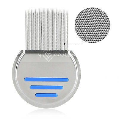 Spiral Nit Free Brand Terminator Comb Rid Head Lice Stainless Steel Dust Remove