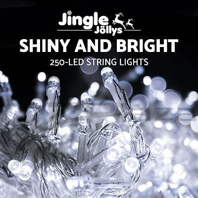 250 LED Christmas String Lights Fairy Party Wedding Outdoor Garden White