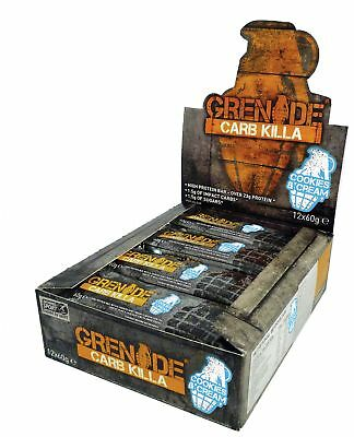 Grenade Carb Killa Cookies and Cream Bars - 12 x 60g-From the Argos Shop on ebay
