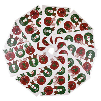 80Pcs MERRY CHRISTMAS Santa Claus Tree Party Cookie Label Paper Seal Sticker